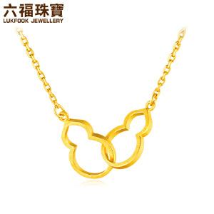 六福珠宝中国风葫芦足金套链黄金套链女款G08TBGN0007