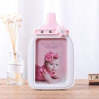 7寸简约卡通宝宝相框摆台创意儿童可爱相架挂墙奶瓶旋转木马像框