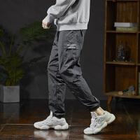 【1折价46.9元】唐狮冬季男士运动裤休闲裤男宽松工装绒厚束脚裤子男