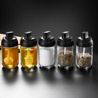 勺盖一体密封调料瓶厨房用防潮调料盒玻璃调味瓶盐瓶糖味精瓶罐油壶套