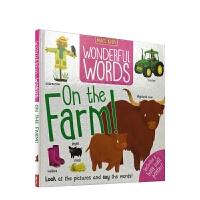 【首页抢券300-100】Wonderful Words On the Farm 妙妙单词书 在农场 词汇启蒙 事物认知