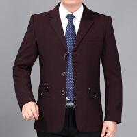 单件西装中年人休闲商务男装中老年春秋季薄款爸爸装外套上衣西服