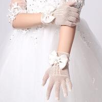 女童公主裙网眼弹力手套新娘结婚手套儿童婚纱花童礼服手套