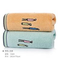 棉洗脸家用毛巾柔软棉男女洗澡吸水学生创意面巾情侣一对T 75x34cm
