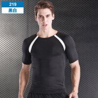 男士健身服男运动紧身衣短袖弹力健身衣T恤速干透气篮球训练服