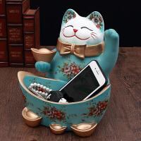 猫摆件家居酒柜玄关装饰品鞋柜钥匙收纳盘店铺开业创意礼品