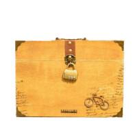 复古木盒装同学录 带锁毕业纪念册通讯录活页可手提