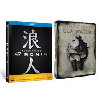 新华书店正版 外国电影 47浪人 丹麦进口铁盒版礼品版 附赠角斗士 空盒 蓝光碟 3DBD50