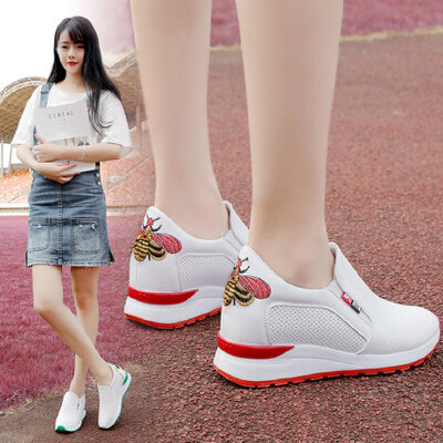 韩版百搭运动女鞋休闲单鞋春秋冬款内增高小白鞋子 品质保证 售后无忧