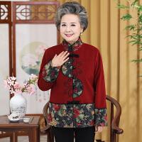 中老年人女�b秋�b毛呢外套奶奶�b60-70�q上衣老人衣服80唐�b春秋