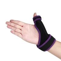 运动配饰大拇指腱鞘受伤加压钢板固定羽毛球篮球运动护具护手指护腕男女粉红色两只装(