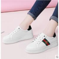 古奇天伦韩版春季新款女鞋白鞋子平底休闲鞋小蜜蜂小白鞋百搭