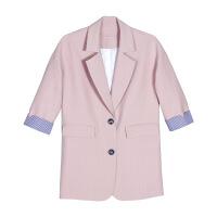 秋冬新款品牌女装韩版时尚翻领修身女式西装风衣外套女97018