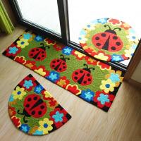 手绣地垫脚垫垫 美丽花朵儿童可爱卡通地垫 门垫地毯 ML手绣精品--甲壳虫