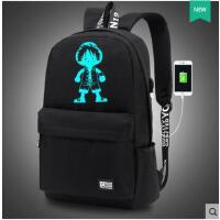 时尚男士潮旅行包初中学生书包电脑包韩版背包双肩包流行背包 可礼品卡支付