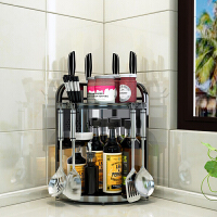 黑色调料架三角置物架不锈钢厨房桌面壁挂放油盐酱醋收纳架转角架