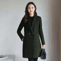 秋冬装2017新款韩版双面绒羊毛呢大衣女外套中长款呢子大衣风衣