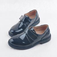 新品男童黑色皮鞋学生演出鞋儿童鞋男孩尖头绑带舞蹈单鞋