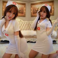 !裤丝袜大码女性感情趣制服诱惑角色扮演护士服套装 +开档袜