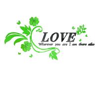 LOVE浪漫3d立体墙贴画温馨婚房布置墙贴纸卧室房间床头墙面装饰品 超