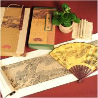 ????中国特色丝绸画清明上河图卷轴外事出国礼品 送老外的小礼物 喜迎国庆