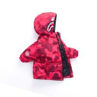 翼皇 婴幼儿童装羽绒服冬季新款男女小童宝宝加厚韩版中长款羽绒服外套
