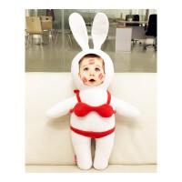 抱枕定制 diy定做照片抱枕 真人公仔比基尼兔子娃娃七夕礼物 男生