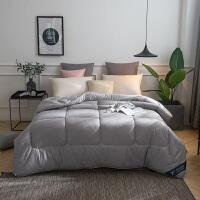 伊迪梦家纺 全棉纯色彩色羽丝绒被 薄款夏被加厚冬被纯棉面料简约舒适单人双人床型PV121