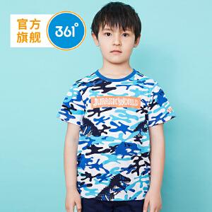 361度 童装男童短袖T恤儿童夏季新款针织衫 侏罗纪款 K51822213