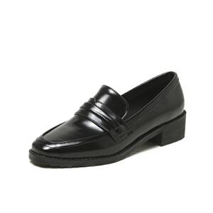O'SHELL法国欧希尔新品020-a36-9日系超纤皮低跟女士单鞋