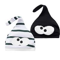 新生儿可爱婴儿帽0全棉胎帽子男女3月宝宝帽子婴幼儿套头帽子圆顶