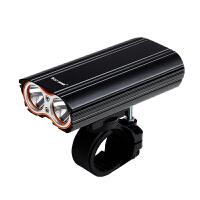 自行车灯前灯充电夜骑高亮强光远射公路车山地车防水双头灯