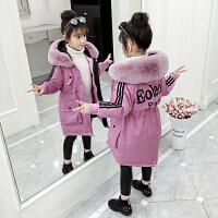 女童棉衣冬装网红洋气儿童羽绒袄宝宝中长款外套