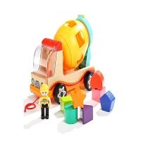 男女孩形状认木拖拉宝儿一岁宝宝玩具车0-1-2-3周