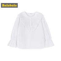 巴拉巴拉童装女童衬衫中大童儿童秋装2018新款韩版甜美长袖上衣潮