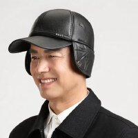 老头冬季帽子皮帽子护耳棒球帽 中老年保暖中年男士冬天老人爸爸