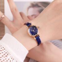 ????新款手表女聚利时学生韩版真皮带复古小巧女表防水数字刻度时装表