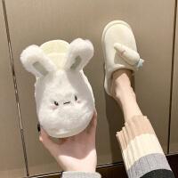 新款网红少女心可爱棉拖鞋女外穿2020秋季室内居家防滑孕妇毛毛鞋