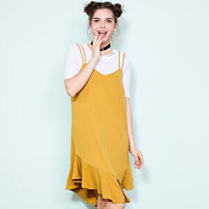 ZDORZI卓多姿夏装时尚百搭纯色套装连衣裙女734E249