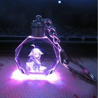 狐妖小红娘周边挂件七彩发光变色水晶挂件钥匙扣LED灯包包挂饰 精美礼盒包装满2送1