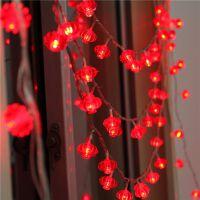 御目 挂灯 过年LED灯春节墙饰灯户外防水灯笼灯串电池盒灯串装饰挂饰挂件春节用品