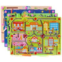 儿童大号磁性运笔走珠子迷宫益智力玩具宝宝2-3-4-5岁男女孩礼物