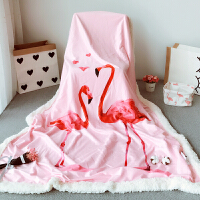 家纺双面绒盖毯 秋冬卡通火鸟加厚幼儿园午睡毯新生儿毛毯抱被