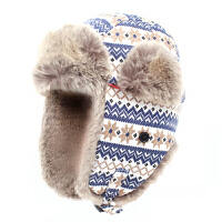 雷锋帽 冬季户外儿童抓绒保暖帽子防风护耳滑雪运动帽潮男女 均码