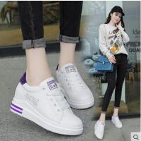 内增高小白鞋女新款百搭韩版学生透气厚底港风板鞋休闲白鞋子
