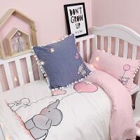 卡通棉婴儿床品四件套男女宝宝幼儿园可爱儿童水洗棉床单被罩