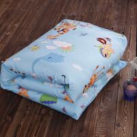 婴儿被子冬被芯子母被宝宝被套 棉棉被办公室小被午睡T 动物世界.蓝 110*150cm
