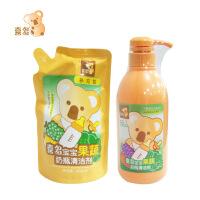 喜多 母婴用品果蔬奶瓶清洁剂清洗剂500ml+补充包450ml