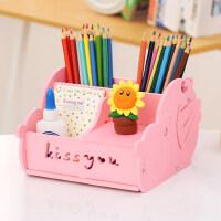 多功能笔筒创意时尚韩国小清新学生可爱卡通儿童桌面小收纳盒办公