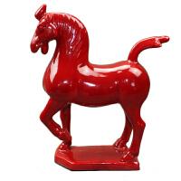 陶瓷小红马 工艺品摆件 家居装饰品马到成功马